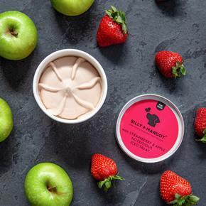 Apple, Staw, ice cream